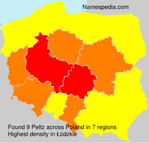 Surname Peltz in Poland