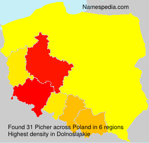 Surname Picher in Poland