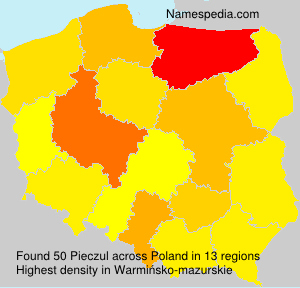 Surname Pieczul in Poland