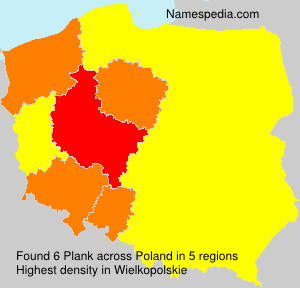 Surname Plank in Poland