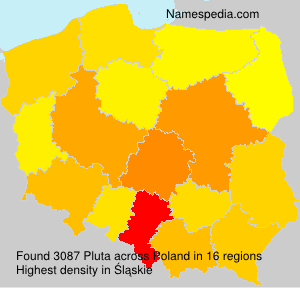 Surname Pluta in Poland