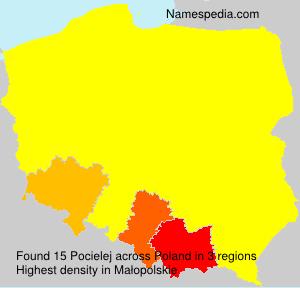 Familiennamen Pocielej - Poland