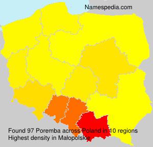 Familiennamen Poremba - Poland