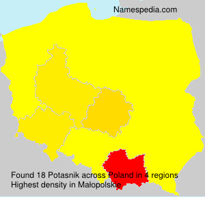 Surname Potasnik in Poland