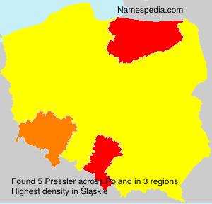 Surname Pressler in Poland