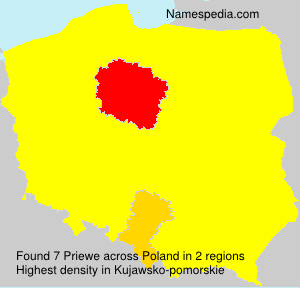 Surname Priewe in Poland