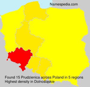 Surname Prudzienica in Poland