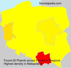 Surname Ptasnik in Poland