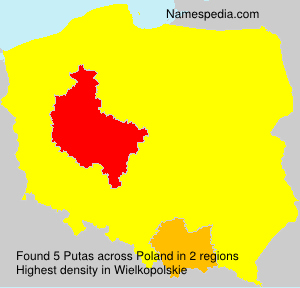 Surname Putas in Poland