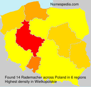 Surname Rademacher in Poland