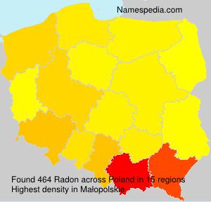 Familiennamen Radon - Poland