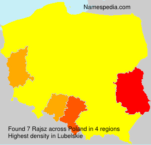 Familiennamen Rajsz - Poland