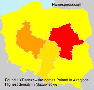 Surname Rapczewska in Poland