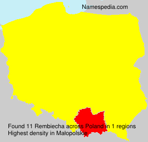 Surname Rembiecha in Poland
