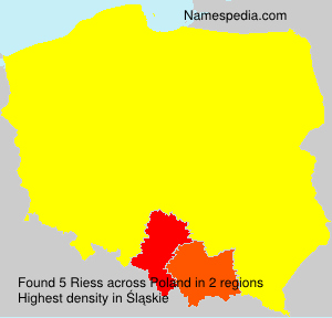 Surname Riess in Poland