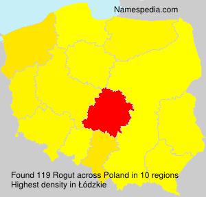 Familiennamen Rogut - Poland