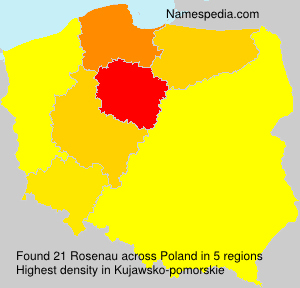 Surname Rosenau in Poland