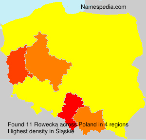 Surname Rowecka in Poland