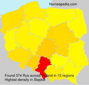 Surname Rus in Poland