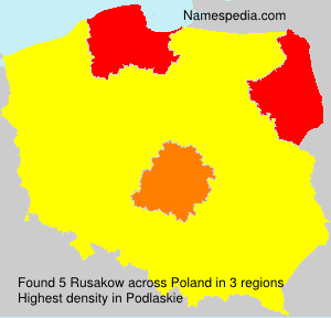 Surname Rusakow in Poland