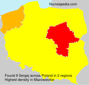 Surname Sergej in Poland