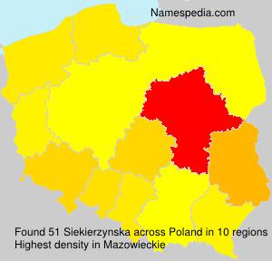 Familiennamen Siekierzynska - Poland