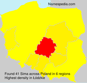Surname Sima in Poland