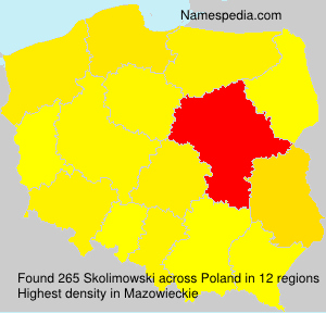 Surname Skolimowski in Poland