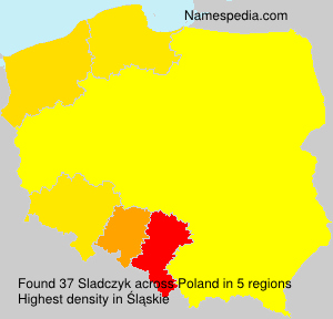 Surname Sladczyk in Poland