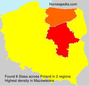 Familiennamen Slasa - Poland