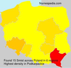 Surname Smist in Poland