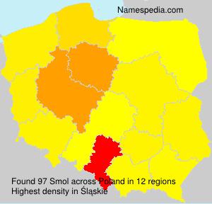 Surname Smol in Poland