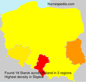 Surname Starok in Poland