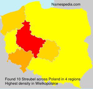 Familiennamen Streubel - Poland