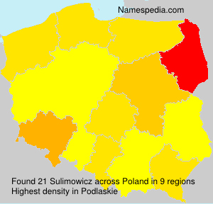 Surname Sulimowicz in Poland