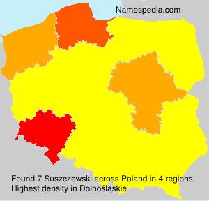 Surname Suszczewski in Poland