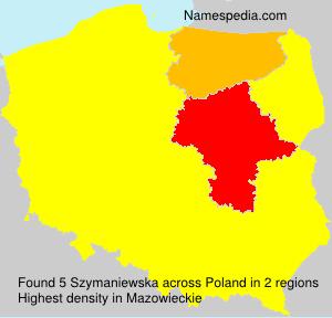 Surname Szymaniewska in Poland