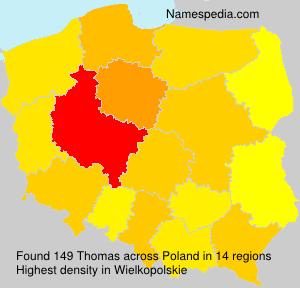 Surname Thomas in Poland