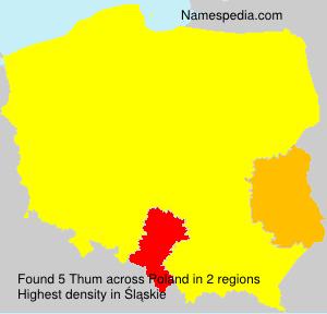 Surname Thum in Poland