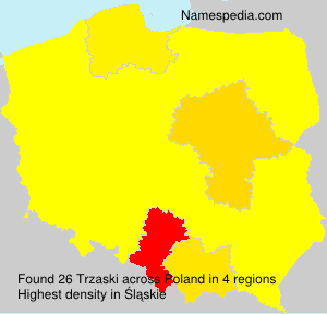 Surname Trzaski in Poland