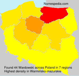 Surname Wardowski in Poland