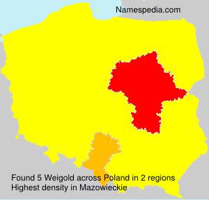 Familiennamen Weigold - Poland