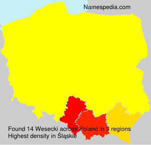 Surname Wesecki in Poland