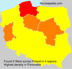 Surname West in Poland