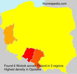 Familiennamen Woitzik - Poland