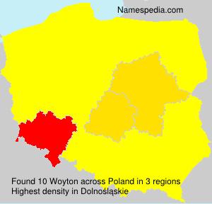 Surname Woyton in Poland