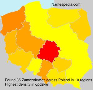 Surname Zamozniewicz in Poland