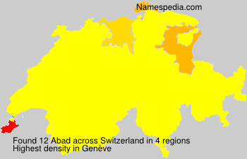 Surname Abad in Switzerland