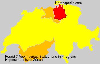 Familiennamen Abeln - Switzerland