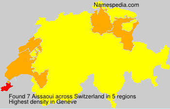 Surname Aissaoui in Switzerland